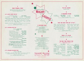 Programme for Charles Cochran's show 'Night Lights', Trocadero Grillroom, London, 1930s. © Victoria and Albert Museum, London