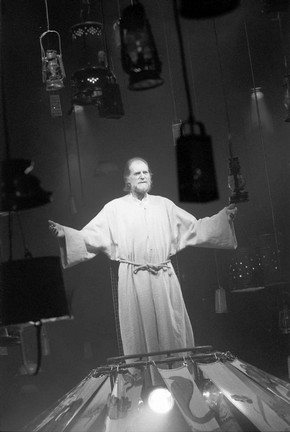 David Bradley as God in The Mysteries by Tony Harrison, directed by Bill Bryden, National Theatre, London, 1999