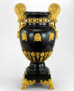 Greek krater-style copper vase patinated to imitate bronze, designed by Thomas Hope, England, 1802-03. Museum no. M.33-1983