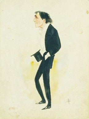 Caricature of Henry Irving. © Victoria & Albert Museum, London