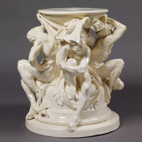 'Vase des Titans', designed by Albert-Ernest Carrier-Belleuse, sculpted by Auguste Rodin, Paris, France, about 1876-8. Museum no. C.44-1970