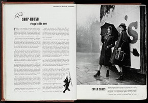 Magazine page featuring photographs by Lee Miller, 20th century. NAL. PP.1.A:3023, © Victoria and Albert Museum, London