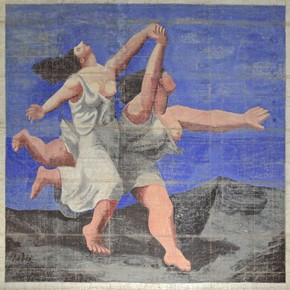 'Le Train Bleu' Ballet, curtain, Pablo Picasso, 1924. Museum no. PPUK no 856, Theatre Collections Online