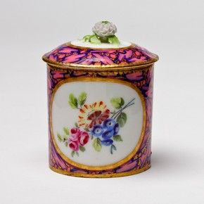 Pommade pot, Sèvres porcelain factory, France, 1761. Museum no. C.1434-1919