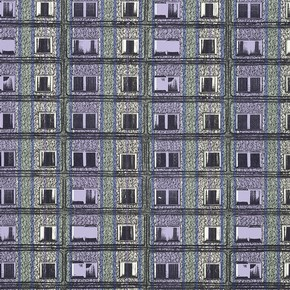 'Prefab Stripe', wallpaper (detail), Sharon Elphick, 1998. Museum no. E.261-2000