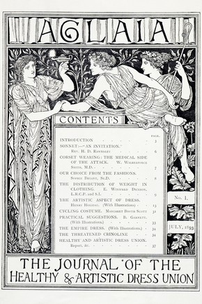 Contents page from 'Aglaia', 1893, London, England, UK, 1893. Museum no. NAL PP 4 N