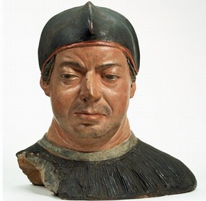 Bust of Cardinal Giovanni de' Medici (later Leo X), attributed to Antonio de'Benintendi, about 1512. Museum No. A.29-1982, © Victoria and Albert Museum, London