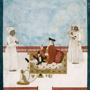 Portrait of William Fullerton of Rosemont, Dip Chand, Murshidabad, India, 1760-1763. Opaque watercolour on paper. Museum no. IM.33-1912
