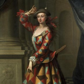Hester Booth (1680-1773) as a Harlequin Woman, John Ellys, Museum no. S.668-1989