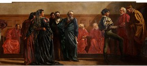 Val Prinsep, The Distribution of Art Prizes: Scholars Receiving Laurels, ca. 1869-72