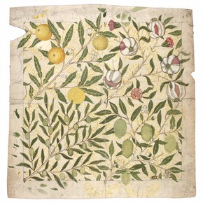 Fruit design by William Morris, 1862. Museum no. E.299-2009