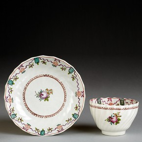 Cup and saucer, Factory Z (possibly) Stoke-on-Trent, England, late 18th - early 19th century. Museum no. 13&A-1904