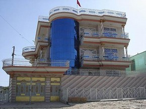 Photograph of an example of contemporary architecture in Kabul.  Jemima Montagu