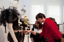 Special guest Erin O'Connor at the Design for Life exhibition at the V&A, April 2010
