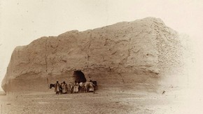 Ancient fort at 'Jade Gate', The Limes Watchtowers, Sir Marc Aurel Stein, 1907. Photo 392/26(269), © The British Library Board