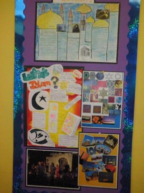 Wall display at Hazlemere Church of England School