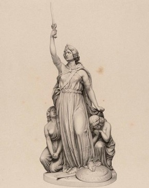Figure 6 - Statue of Boadicea in Sketches and Drawings by John Thomas, Volume 2 (RIBA, 69)