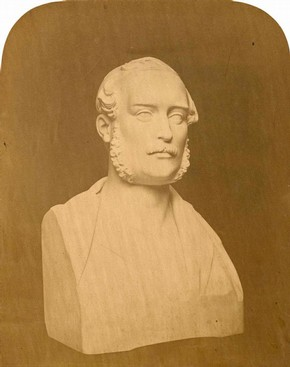 Figure 7 - Bust of Prince Albert in Sketches and Drawings by John Thomas, Volume 1 (RIBA, 68)