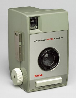 Figure 1 - Brownie Vecta, camera, Kenneth Grange for Kodak, 1964, plastic and nickel. Museum no. CIRC.124-1965