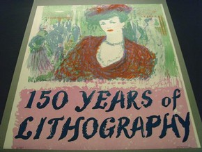 Figure 3 - '150 Years of Lithography', poster, Charles Mozley, England, 1948, auto-lithograph. Museum no. C.17459.C. Photograph by Joanna Weddell