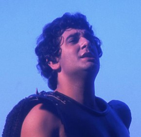 Plácido Domingo as Radames ('Aida' by Verdi), 1973.