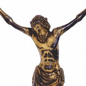 Cross, about 1350. Museum no. M.38-1955, bequeathed by Dr W.L. Hildburgh FSA