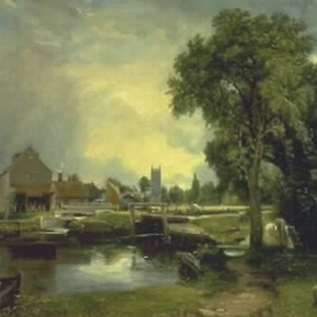 'Dedham Lock and Mill' by John Constable, 1820, Museum no. FA.34