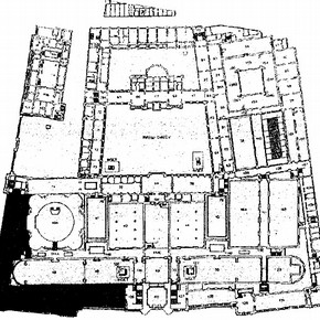 Figure 1. Ground floor plan of the Museum, new British Galleries shown in black