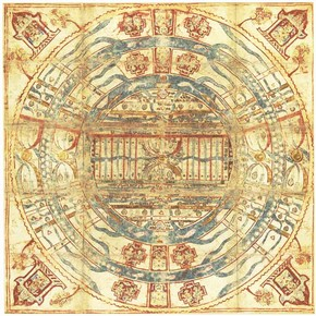 Jain cosmological mandala as a plan of Jambudvipa, 19th century. Museum no. Circ.91-1970