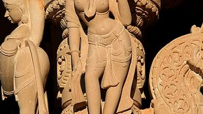 Apsara from the Jain Temple at Potters Bar, Photographed by Ravin Mehta, 2006, Reproduced with permission of the Oshwal Association (UK) Apsara from the Jain Temple at Potters Bar Photographed by Ravin Mehta 2006 Reproduced with permission of the Oshwal