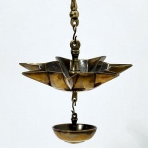 Jewish Star Sabbath Lamp, 18th Century, Museum no.1512A-1903