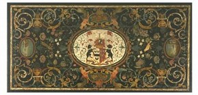 Scagliola table top, 18th century. Museum no. W.6-1933