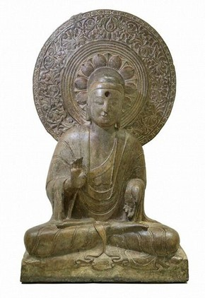 Seated Buddha, possibly Northern Qi, China, Museum no. A.4-1924