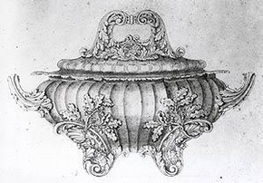 Attributed to Edward Hodges Baily, a design for a tureen, about 1815. Museum no. E.70-1964