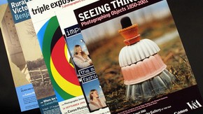 Selection of photography exhibition posters, 1999-2002, held in the V