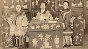 Chinese Women Drinking Tea, about 1880 © Royal Geographical Society with IBG