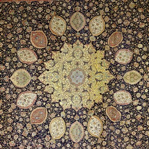 Detail of showing the central medallion, Ardabil Carpet