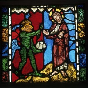 Temptation in the Wilderness - The First Temptation of Christ, about 1170-80. Museum no. C.107-1919