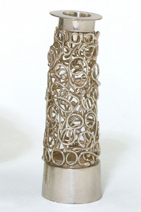 Havdalah candlestick, made by Eli Gera. Museum no. M60&a-1981