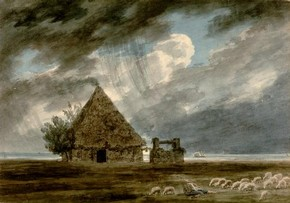 John Robert Cozens, 'Shepherd's Hut between Naples and Portici'. Museum no. 84-1894