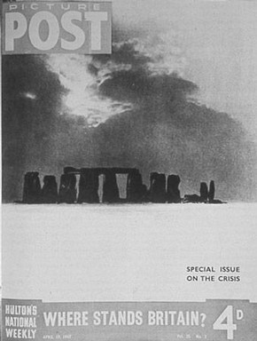 Stonehenge Under Snow, Bill Brandt, 1944 © Bill Brandt Archive Ltd.