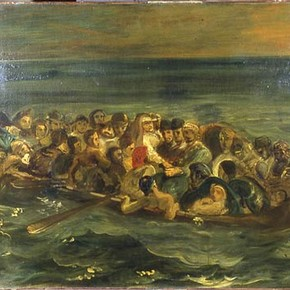 Eugène Delacroix, 'The Shipwreck of Don Juan', about 1840. Museum no. CAI. 64