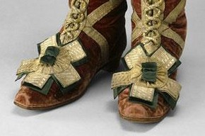 Coronation herald's boots, 1797. Museum no. TK1399/1-2, © The Moscow Kremlin Museums