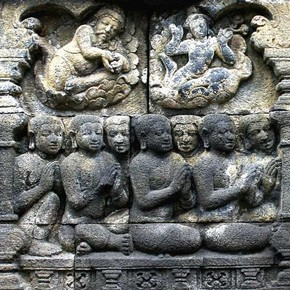 Relief carving, Borobudur Photograph by Hardy Hartono Gunawan, 2008