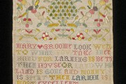 Sampler, Mary Groome, 1704. Museum no. T.125-1992