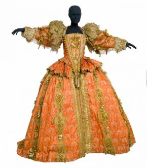Costume for Elizabeth I in Benjamin Britten's opera 'Gloriana', designed by Alix Stone, worn by Ava June, English National Opera, Coliseum, London, 1975. Museum no. S.15-2004