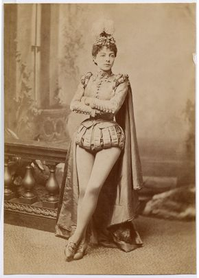 Victorian era performer dressed as a male prince