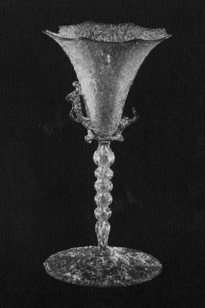 Fig 1. Venetian wine glass, 16th-17th century, from the collection at the V&A Museum