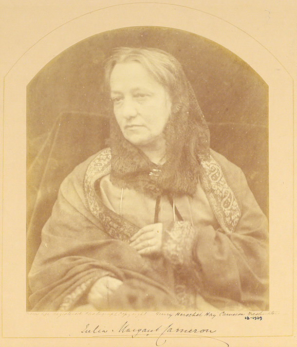 Henry Herschel Hay Cameron, 'Julia Margaret Cameron', albumen print from wet collodion-on-glass negative, 1874. Museum no. 18-1939, © Victoria and Albert Museum, London