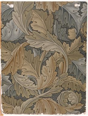 'Acanthus', wallpaper by William Morris, 1875. Museum no. E.495-1919, © Victoria & Albert Museum, London